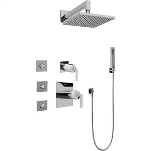 Graff GC5.122A-LM40S-SN Immersion Satin Nickel Full Thermostatic Shower System with Diverter Valve
