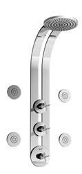 Graff - GD1.0-C4-SN - Infinity Round Thermostatic Ski Shower Set with Body Sprays