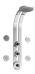 Graff - GD1.0-LM24S-SN-T - Tranquility Round Thermostatic Ski Shower Set with Body Sprays-T
