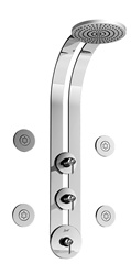 Graff - GD1.0-LM25B-SN - Atria Round Thermostatic Ski Shower Set with Body Sprays