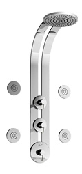 Graff - GD1.0-LM3B-PC-T - Perfeque Round Thermostatic Ski Shower Set with Body Sprays-T