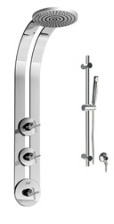 Graff - GD1.1-C4-SN-T - Infinity Round Thermostatic Ski Shower Set with Handshower-T