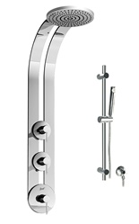 Graff - GD1.1-LM29B-PC-T - Eco Round Thermostatic Ski Shower Set with Handshower-T