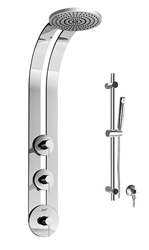 Graff - GD1.1-LM3B-SN-T - Perfeque Round Thermostatic Ski Shower Set with Handshower-T