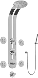 Graff GD1.120A - Round Thermostatic Ski Shower Set w/Body Sprays & Handshower (Rough & Trim)