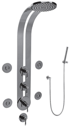 Graff GD1.120A-LM25B-SN - Atria Series Full Thermostatic Ski Shower System with Satin Nickel Finish.