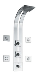 Graff - GD2.0-C10S-PC-T - Fontaine Square Thermostatic Ski Shower Set with Body Sprays- Trim Only