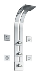 Graff - GD2.0-C14S-PC-T - Targa Square Thermostatic Ski Shower Set with Body Sprays- Trim Only