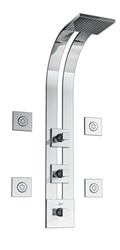 Graff - GD2.0-C8S-PC - Manhattan Square Thermostatic Ski Shower Set with Body Sprays