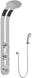 Graff GD2.030A - Round Thermostatic Ski Shower Set w/Handshower (Rough & Trim)