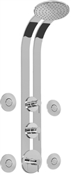 Graff GD3.100A - Round Thermostatic Ski Shower Set w/Body Sprays (Rough & Trim)