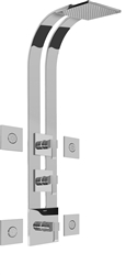 Graff GE3.100A - Square Thermostatic Ski Shower Set w/Body Sprays (Rough & Trim)