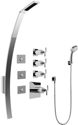 Graff GF1.130A - Luna Thermostatic Shower Set w/Body Sprays & Handshower (Rough & Trim)