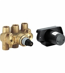 Grohe - 34 908 000 Grohtherm 3/4-inch Thermostatic Valve with Service Stops