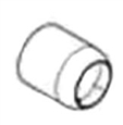 Grohe - 	46 264 000 Chrome Plated Escutcheon Sleeve Cover Tube