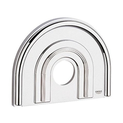 Grohe 47 459 IP0 - Chiara Shower Escutcheon Plate, Chrome and Matte Chrome