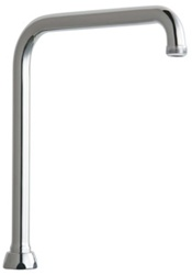 Chicago Faucets - HA8JKCP High Rise Rigid/Swing Spout with 13/16 - 24 Male Outlet