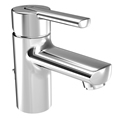 Hansa 4309 2203 0017 HANSARONDA Single Handle Lavatory Faucet with Matte Glass Lever Handle and Pop-Up Drain