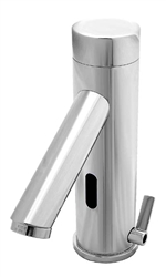 Hydrotek 7000SLEM Series faucet is a solar sensory faucet that provides a vandal resistant, no touch lavatory solution with hot/cold mixing that promotes better hygiene and energy savings. This model uses ambient light to function.