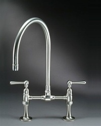 "Jaclo 1018 Series Bridge Faucet with 7"" Swivel Spout"