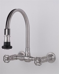 Jaclo 1212 Series Pull-Off Spray Wall Mounted Faucet with Swivel Spout