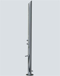 Jaclo 1805 Aqua Adagio Multifunction Outdoor Shower Column with External Side Water Inlet