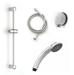 Jaclo 352-420-401 Titania Hand Shower and Wall Bar Kit - With Supply Elbow
