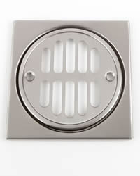 Jaclo 6231 4-1/4-inch Square Shower Drain Plate with Screws