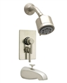 Jaclo - 6532-168-05 Cylindrico 5 Thermostatic Tub and Shower Set with Integral Volume Control and Diverter Tub Spout