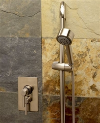 Jaclo 6532-522-468 - Cylindrica 5 Thermostatic Hand Shower Set with Adjustable Sliding Wall Bar
