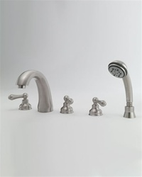 Jaclo 6940-T636-428 Jaylen Transitional Roman Tub Faucet with Lever Handles and Handshower