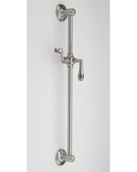 Jaclo 7424 24-inch Retro Edged Lever Handle Wall Bar with Adjustable Height and Angle