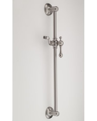 Jaclo 7924 24-inch Retro Ball-Point Lever Handle Wall Bar with Adjustable Height and Angle