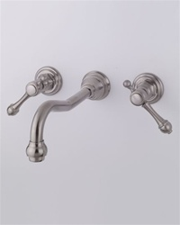 "Jaclo 9830-WALL-T692 Roaring Twenties Center Wall Faucet with Finial Lever Handles and 10"" Spout"