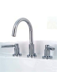 Jaclo 9880-L Contempo Widespread Lavatory Faucet with Lever Handles and Pop-Up Drain for Exposed Applications