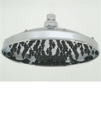 "Jaclo S196 Kimberly 9"" RAIN Shower Head with 127 Rubber Jets"