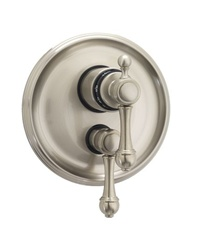 Jaclo T6592 Finial Lever Dual 1/2-inch Thermostatic and Volume Control Valve with Trim