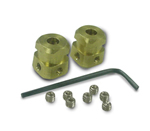 Kissler - 4-2 - Fit-All Brass Square Handle Inserts with Set Screws (2/Bag)