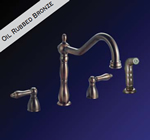 Kissler - 77-6611 - Dominion Kitchen Faucet with Spray Oil Rubbed Bronze