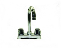 Krowne 11-400L - Commercial Series 4-inch Center Deck Mount Faucet with 3-1/2-inch Gooseneck Spout - Low Lead