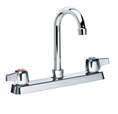 Krowne 13-801L - Low Lead Commercial 8-inch Center Faucet with 6-inch Wide Gooseneck