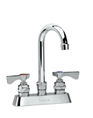 Krowne 15-302L - Low Lead Royal Series 4-inch Center Deck Mount Faucet with 8-1/2-inch Wide Gooseneck