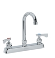 Krowne 15-501L - Low Lead Royal Series 8-inch Center Deck Mount Faucet with 6-inch Wide Gooseneck