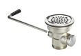 Krowne Metal - 22-204 Commercial Twist Style Stainless Steel Sink Strainer with Overflow for 3-1/2 inch sink openings