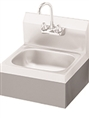 Stainless Steel Skirt for Added Strength and Cleaner Look on Hand Sinks