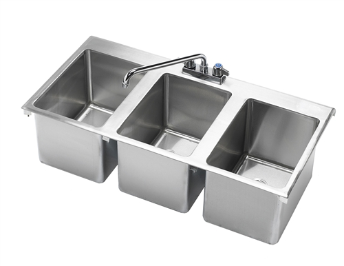 Krowne Hs 3819 36 Quot X 18 Quot Three Compartment Drop In Hand Sink