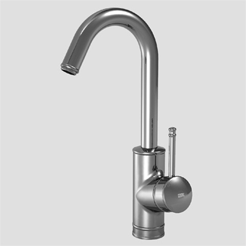 Kwc Polished 5 5 8 Inch Spout Reach Deco Single Handle Bar Faucet With Side Lever