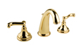 Meridian 2009273 - Widespread Lavatory Faucet Lever Handles (Solid Brass Construction) - 18K Gold