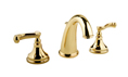 Meridian 2009370 - Widespread Lavatory Faucet Lever Handles (Solid Brass Construction) - 18K Gold