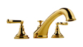Meridian 2026130 - Roman Tub Faucet Lever Handles (Solid Brass Construction) - 18K Gold